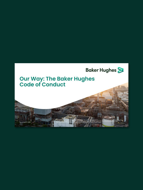 Screenshot of Our way the baker hughes code of conduct cover