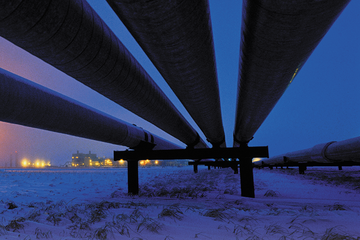 Photo of a midstream pipeline.
